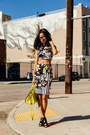 Yellow-alexander-wang-bag-black-zara-heels-black-clover-canyon-skirt