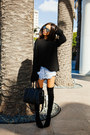Black-stuart-weitzman-boots-black-zara-sweater-black-givenchy-bag