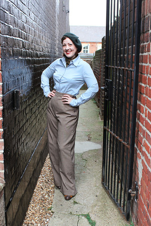 fitted blouse Gap blouse - hat - Heyday pants