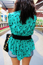 Black-miu-miu-bag-teal-thrifted-top-black-topshop-belt-black-topshop-heels