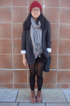 necessaryclothing blazer - BP scarf - Forever 21 shirt - Gap accessories - Forev