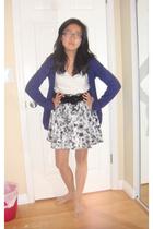 H&M skirt - American Eagle shirt - belt - Forever21 sweater