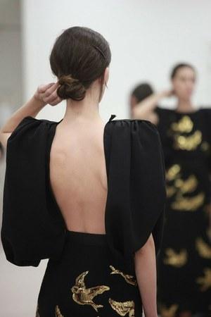 black bird print Miu Miu dress
