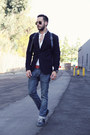Light-blue-h-m-jeans-navy-club-monaco-blazer-white-forever21-shirt