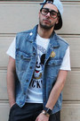 Light-blue-mickey-mouse-joyrich-hat-white-mickey-mouse-joyrich-shirt