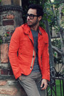 Dark-brown-kenneth-cole-boots-carrot-orange-zara-jacket