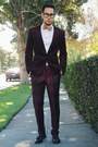 Black-tassel-loafers-zara-shoes-crimson-h-m-blazer-white-zara-shirt