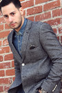 Navy-cargo-levis-jeans-heather-gray-tweed-topman-blazer