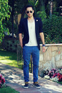 Navy-vans-shoes-navy-givenchy-blazer-white-t-shirt-topman-shirt