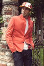 Navy-h-m-jeans-new-era-hat-red-zara-blazer-white-hanes-shirt