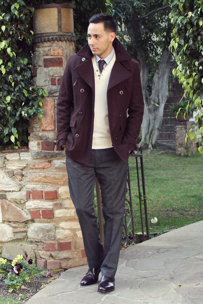 crimson Paul Evans shoes - crimson Kenneth Cole Reaction coat
