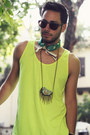 Rock-and-spikes-micha-design-necklace-yellow-tank-american-apparel-shirt