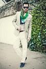 Navy-h-m-shoes-beige-h-m-blazer-versace-x-h-m-scarf