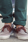Dark-brown-boat-shoes-vans-shoes-teal-zara-jeans-eggshell-hot-topic-shirt