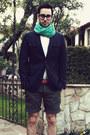 Navy-banana-republic-blazer-aquamarine-h-m-scarf