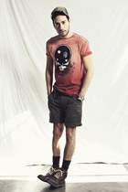 brick red space head 73 LIFE Clothing Co shirt