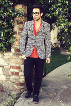printed Mr Turk blazer - black Royal Elastics shoes - black Levis jeans