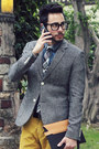 Charcoal-gray-tweed-topman-blazer-black-royal-elastics-shoes