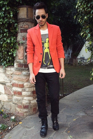 Zara blazer - black Ralph Lauren boots - black Levis jeans
