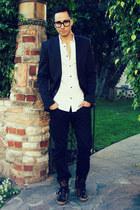 leopard Michael Kors sneakers - black Levis jeans - black Zara blazer
