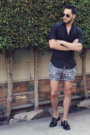 Hugh & Crye shirt - tassel oxford Zara shoes - paisley Topman shorts