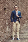 Navy-inc-international-concepts-blazer-white-forever21-shirt-tan-jcrew-pants