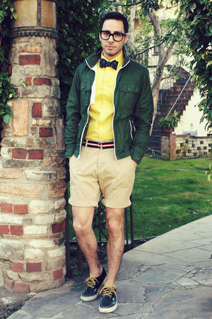 yellow Express shirt - navy Vans shoes - dark green Gap jacket