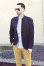 Navy-club-monaco-blazer-dark-brown-brogues-zara-shoes