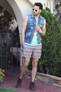 Crimson-vans-shoes-light-blue-tank-junk-food-shirt-brick-red-obey-shorts