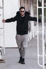 Dark-gray-lacoste-sunglasses-black-nike-sneakers-silver-topman-pants