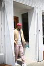 Pink-hudson-jeans-tan-lacoste-jacket-silver-levis-shirt