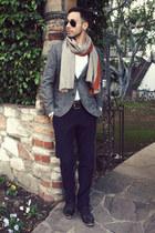 heather gray Emile Lafaurie for Sean blazer