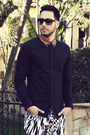 Black-leopard-collar-topman-shirt-marc-by-marc-jacobs-sunglasses