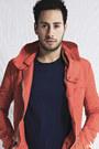 Dark-brown-forever21-boots-burnt-orange-zara-jacket-navy-topman-shirt