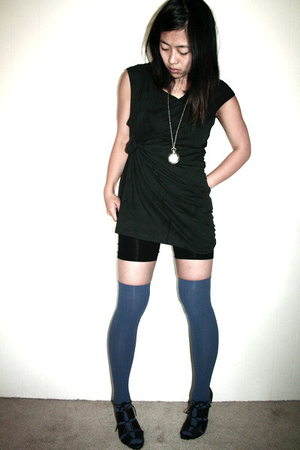 Urban Outfitters top - vintage shorts - American Apparel socks - vintage necklac