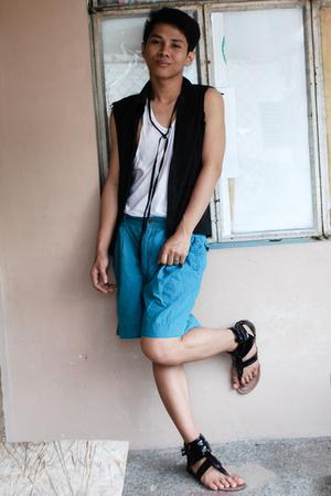 random vest - random shirt - random shoes - random shorts