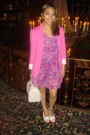 amethyst unknown brand dress - hot pink H&amp;M blazer