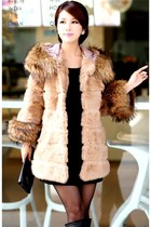 cream Faux fur coat