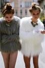 White-faux-fur-jacket-heather-gray-faux-fur-jacket