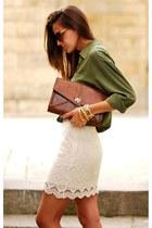 olive green shirt