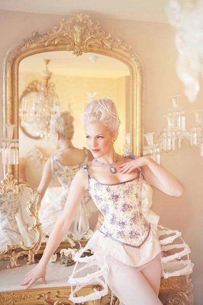 ivory corset top