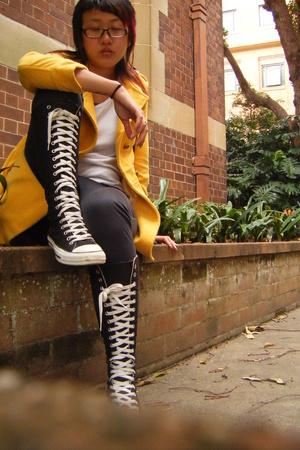 coat - top - Sportsgirl pants - shoes