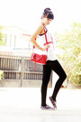 Purple-sneakers-white-momoe-blouse-red-belt