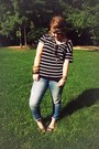 Forever21-jeans-forever-21-scarf-forever-21-t-shirt-crocs-flats