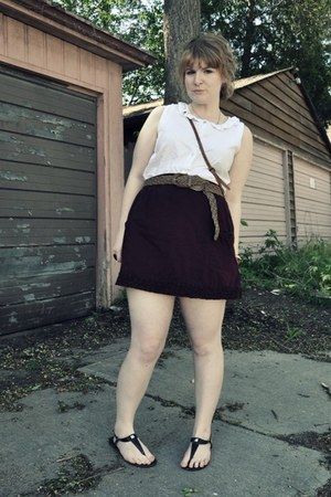 vintage shirt - Forever 21 skirt - vintage belt