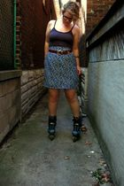vintage skirt - vintage belt - Urban Outfitters top