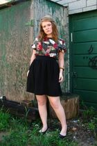 black joe fresh style skirt - Rhitbee Anne Vintage blouse - vintage bracelet