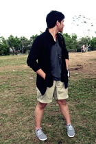 gray Topman shirt - beige Ralph Lauren shorts - blue Zara shoes - black Valerue