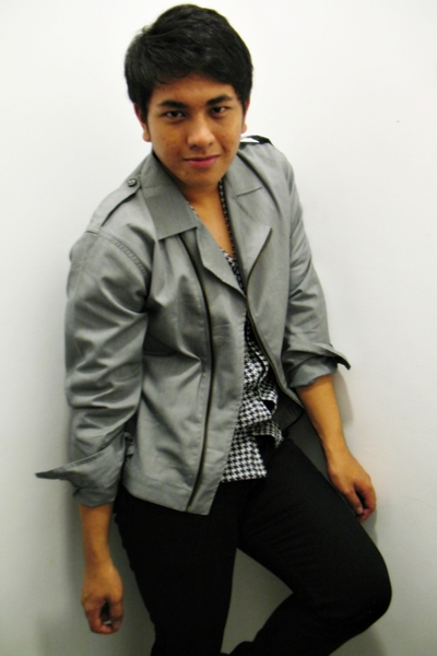 gray Dean and Trent jacket - black Dean and Trent cardigan - black Folded and Hu