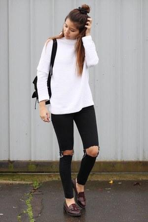 Zara flats - Topshop jeans - Zara jumper